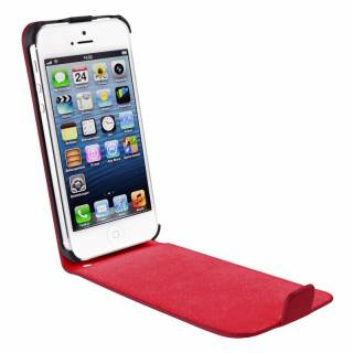 Artwizz iPhone 5 SeeJacket Leather FLIP PLUS - red AR-AZ0646RR