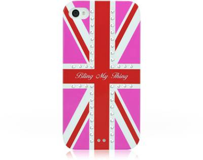 Bling My Thing Сваровськи для iPhone 4S/4 Hot Pink Union Jack Crystal BMT-11-20-12-01