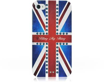Bling My Thing Сваровськи для iPhone 4S/4 Retro Union Jack Montana BMT-11-21-12-45