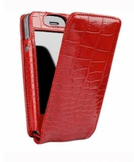 Sena iPhone 4 MagnetFlipper Case - Croco Red SEN-156417