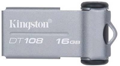 Флеш-память USB Kingston 16Gb DT108 USB2.0 Black/Silver DT108/16GB