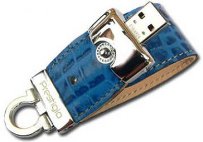 Флеш-память USB Prestigio Leather Flash Drive NAND Flash 16ГБ PLDF16GBCRBLUET3
