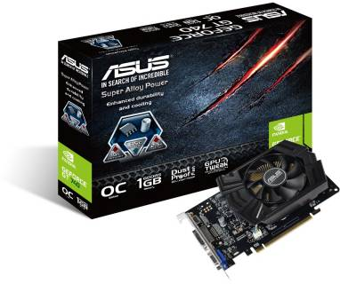 Видеокарта ASUS GeForce GT740 1GB DDR5 OC GT740-OC-1GD5