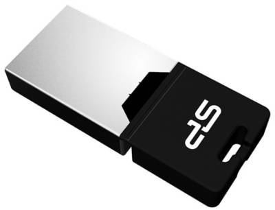 Флеш-память USB Silicon Power Mobile X20 8Gb Black USB 2.0 + OTG SP008GBUF2X20V1K