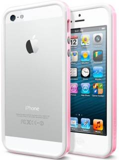 SGP Бампер iPhone 5 Case Neo Hybrid EX Slim Snow Series Sherbet Pink SGP10031
