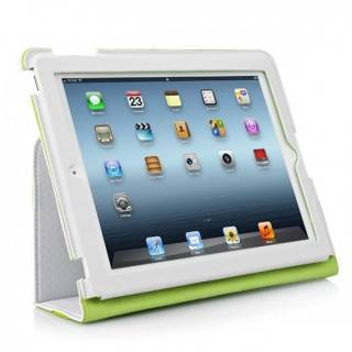 CAPDASE New iPad/iPad 2 White/Green FCAPIPAD3-P026