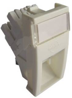Аксессуар MOLEX MM22.5x45mm AM,Shuttered,1xRJ45 DG+568A/B UTP PC5e White MLG-00028-02
