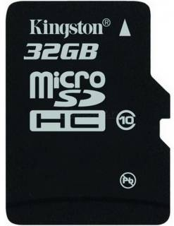 Карта памяти Kingston NAND Flash Micro SDHC 32GB Class 10 SDC10/32GBSP