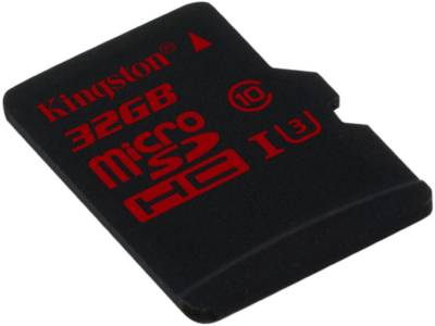 Карта памяти Kingston microSDHC 32 Gb UHS-I +adapter U3 (SDCA3/32GB)