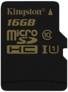 Карта памяти Kingston 16GB microSDHC CL10 UHS-I 90R/45W Single Pack w/o Adapter SDCA10/16GBSP