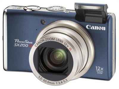 Фотоаппарат Canon PowerShot SX200 IS (Blue) 3510B002