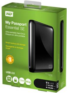 Внешний HDD Western Digital My Passport Essential SE WDBABM7500ABK