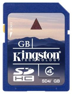 Карта памяти Kingston High-Capacity SD4/16GB