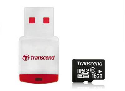 Карта памяти Transcend High-Capacity TS16GUSDHC6-P3