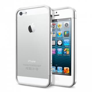 SGP Case Linear EX Slim Metal Series Satin Silver for iPhone 5 SGP10082
