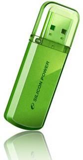Флеш-память USB Silicon Power Helios 101 8GB GREEN USB 2.0 SP008GBUF2101V1N