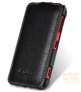 Melkco Leather Case Jacka Face Cover Book Black for Nokia Lumia 620 NKLU62LCFB2BKLC