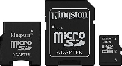 Карта памяти Kingston High-Capacity SDC4/4GB-2ADP