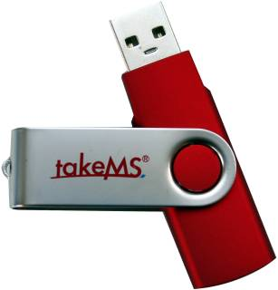Флеш-память USB TakeMS Mini Rubber Red TMS16GUMIR1R02