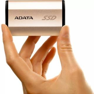 Внешний HDD A-Data SE730 SSD 250GB IP68 Metal Gold USB 3.1 Gen2 Type-C ASE730-250GU31-CGD