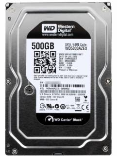 Внутренний HDD/SSD Western Digital Caviar Black 500GB 7200RPM 6GB/S 64MB WD5003AZEX