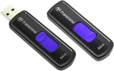 Флеш-память USB Transcend JetFlash 500 64GB Blue USB 2.0 TS64GJF500