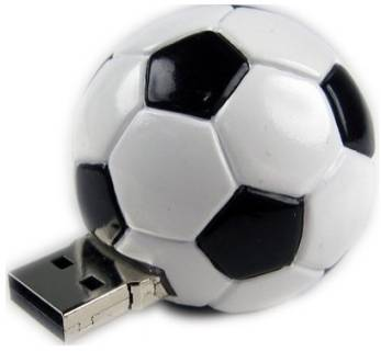 Флеш-память USB Pretec Sport FootBall 8Gb USB 2.0 F2U08G-A