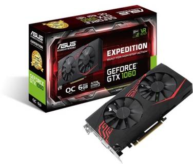 Видеокарта ASUS GeForce GTX 1060 6GB EX-GTX1060-O6G