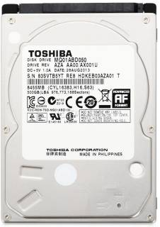 Внутренний HDD/SSD Toshiba Laptop 500GB Sata Hard Disk 8Mb 5400rpm MQ01ABD050