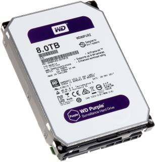 Внутренний HDD/SSD Western Digital Purple 8Tb 5400rpm 128mb WD80PURZ