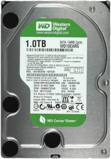 Внутренний HDD/SSD Western Digital Caviar Green WD10EARS
