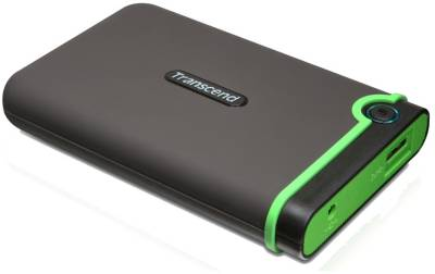 Внешний HDD Transcend StoreJet 25M3 500Gb Black/Green Rubber Case USB 3.1 TS500GSJ25M3