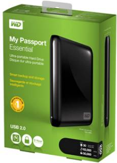 Внешний HDD Western Digital My Passport Essential WDBAAA7500ABK