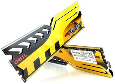 Оперативная память Geil Evo FORZA Yellow H DDR4 16Gb (2x8Gb) 3200MHz CL16 Kit GFY416GB3200C16ADC