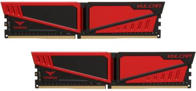 Оперативная память Team T-Force Vulcan Red DDR4 8GB (2x4GB) 3200MHz TLRED48G3200HC16CDC01