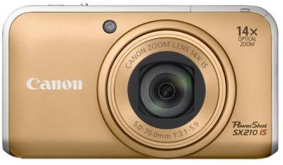 Фотоаппарат Canon PowerShot SX210 IS (Gold) 4245B002