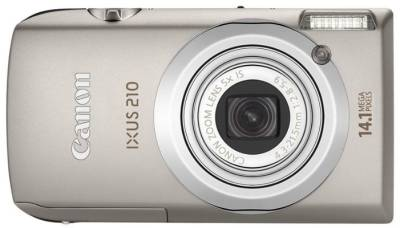 Фотоаппарат Canon IXUS 210 IS (Silver) 4196B001, 4196B021