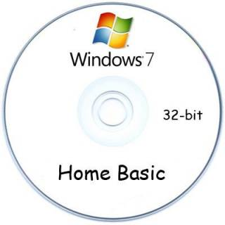 Операционная система Microsoft Windows 7 Home Basic, 32-Bit, OEM F2C-00201