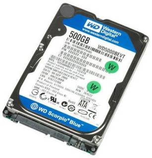 Внутренний HDD/SSD Western Digital Scorpio Blue 500Gb WD5000BPVT