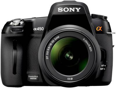 Фотоаппарат Sony DSLR A450 18-55mm + 55-200 KIT (Black) DSLRA450Y.CEE2