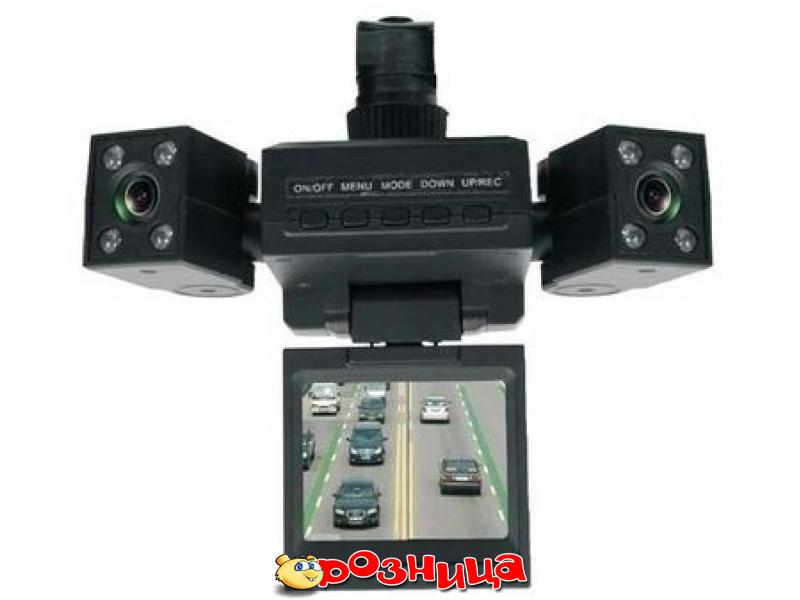 Автомобильный видеорегистратор на 2 камеры Two Camera Car DVR. Цифровой зум: 8х br Разрешение видео: 1280х480