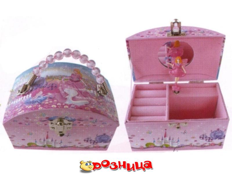 Шкатулка сумочка-сундучок с балериной музыкальная.